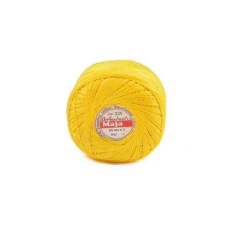 KORDONEK MAJA 5 kol.335 żółty 120x2 50g