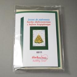 KARTKA Z HAFTEM KRZYŻYKOWYM 0011