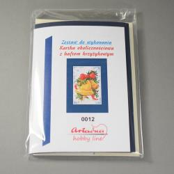 KARTKA Z HAFTEM KRZYŻYKOWYM 0012