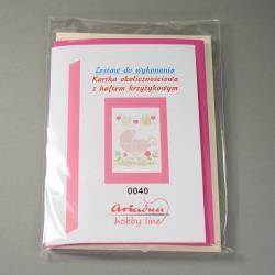 KARTKA Z HAFTEM KRZYŻYKOWYM 0040