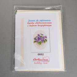 KARTKA Z HAFTEM KRZYŻYKOWYM 0082