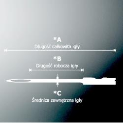IGŁA STANDARD LONG NEEDLE