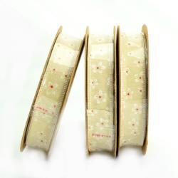 WSTĄŻKA 2cm NATURAL (4,5m) wzór 7