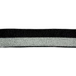 GUMA 15mm czarno-srebrna