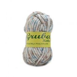 WŁÓCZKA GRUBA KOTKA 48-1129 turkusowo-beżowy melanż 0,5 kg