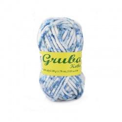 WŁÓCZKA GRUBA KOTKA 48-1169 niebieski melanż 0,5 kg