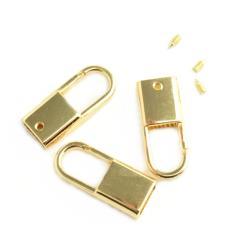 KOŃCÓWKA Z KARABIŃCZYKIEM 9mm złoto