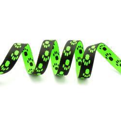 TAŚMA 15mm smyczowa wz.łapka zielony