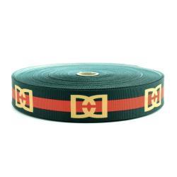 TAŚMA RYPSOWA 30 zielono-czerwona DD 50m