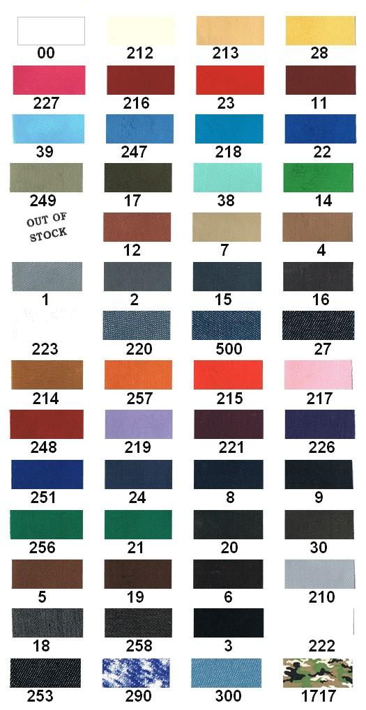 Karta kolorów - Łata zwykła