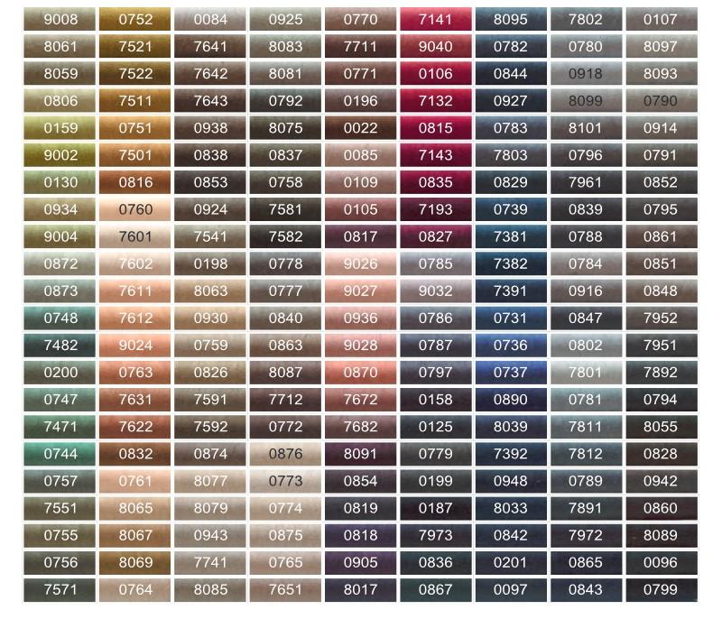 Karta kolorów 1 Talia 120 200m