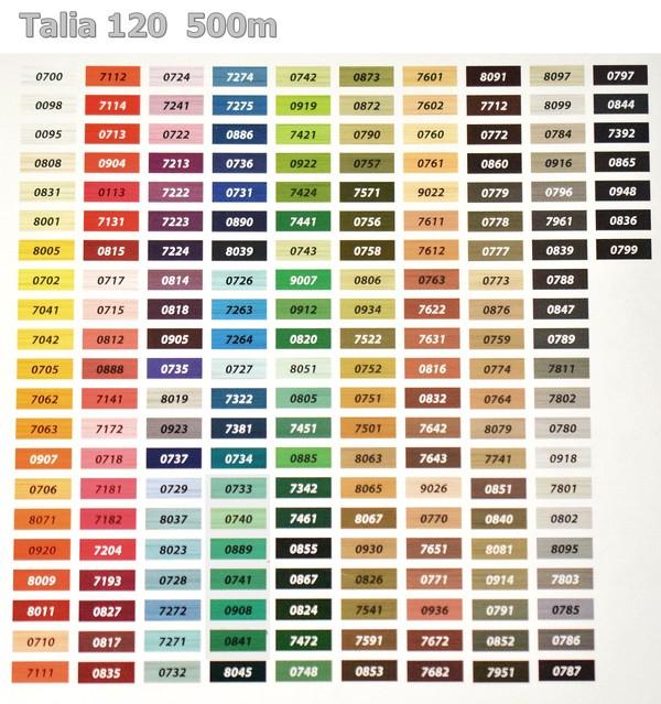 Karta kolorów TALIA120