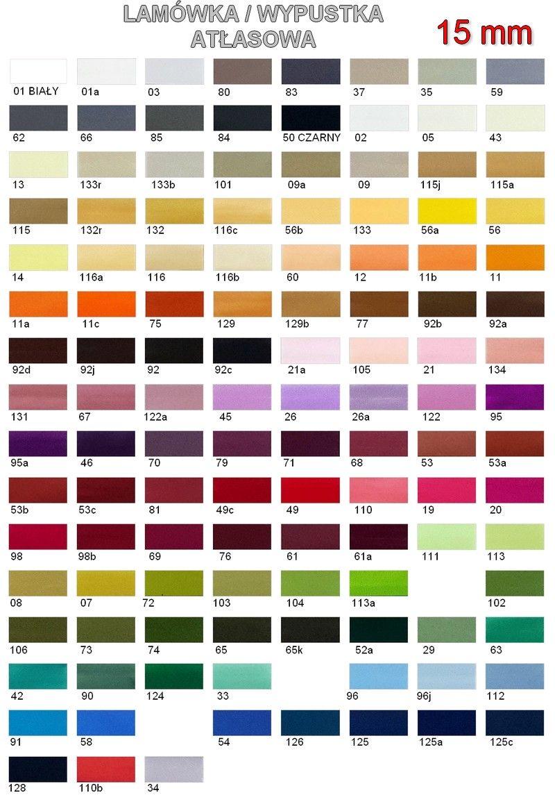 Lamówka/Wypustka kolory