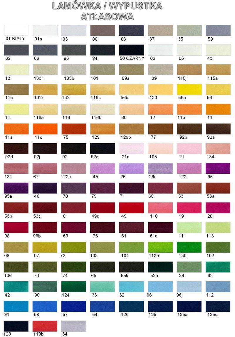 Lamówka / Wypustka - kolory