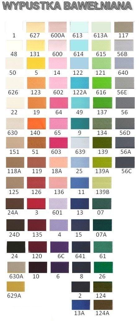 Wypustka - karta kolorów
