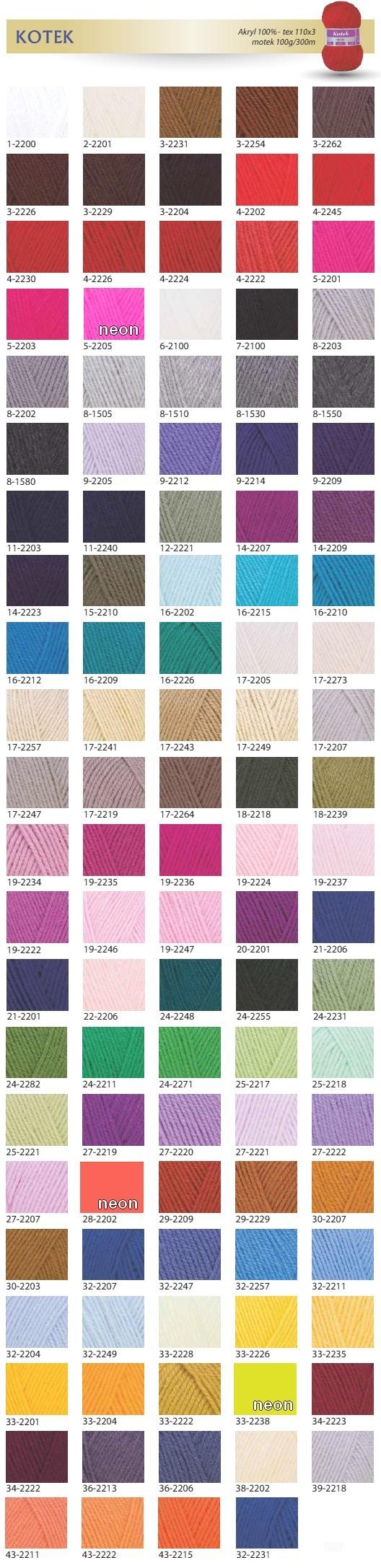 Karta kolorów - KOTEK