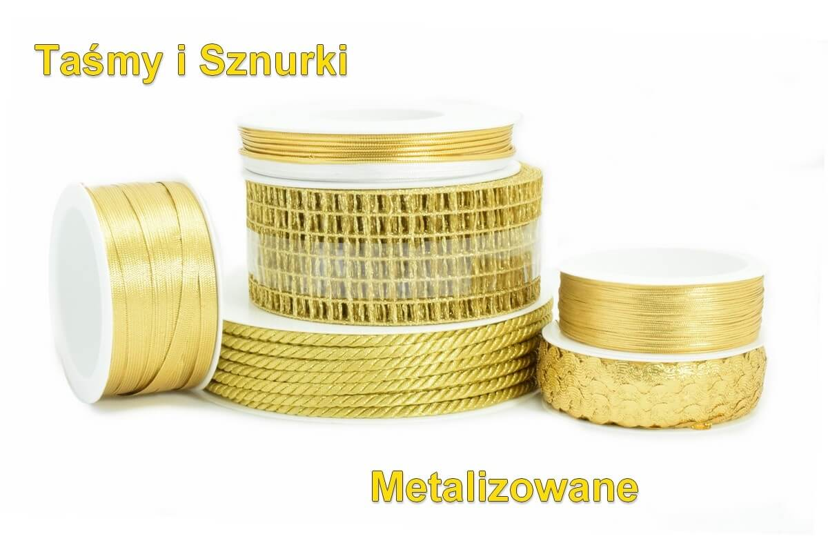 Taśmy i sznurki metalizowane